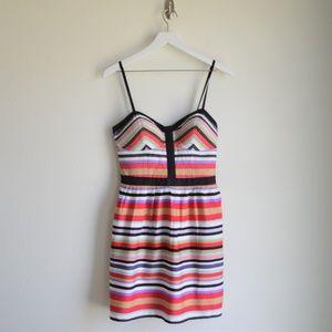 Jessica Simpson Striped Bustier Dress